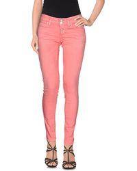 Twenty Easy By Kaos Denim Trousers - Pink