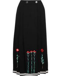 Temperley London 3/4 Length Skirt - Black