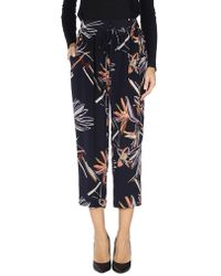 Maiyet Relaxed Floral-print Slouch Trousers - Black