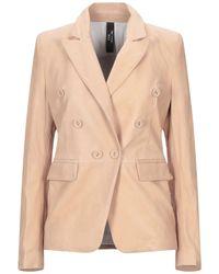 Vintage De Luxe Suit Jacket - Natural