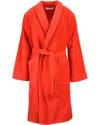 KENZO Towelling Dressing Gown - Red
