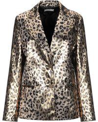Sara Battaglia Suit Jacket - Metallic