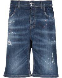 Frankie Morello Shorts vaqueros - Azul