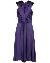 Halston Knee-length Dress - Purple