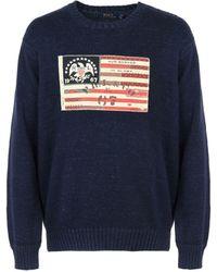 Polo Ralph Lauren Le pull à drapeau emblématique - Bleu