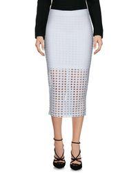 T By Alexander Wang Midi Skirt - White