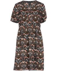 Marc By Marc Jacobs - Lace-trimmed Printed Crepe Dress - Lyst