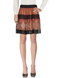 Alberta Ferretti Knee Length Skirt - Brown