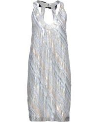 Barbara Bui Midi Dress - Metallic