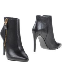 Lola Cruz - Pointed-Toe Leather Ankle Boots - Lyst