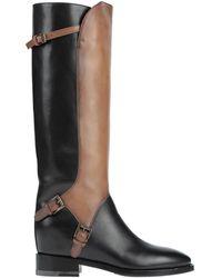 Santoni Knee Boots - Black