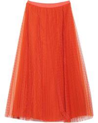 RED Valentino Falda larga - Naranja