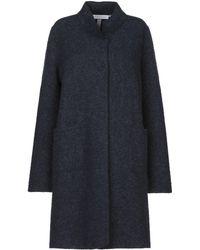 Harris Wharf London Overcoat - Blue
