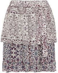 L'Agence Knee Length Skirt - White