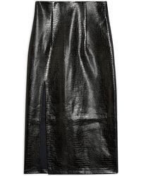 TOPSHOP 3/4 Length Skirt - Black
