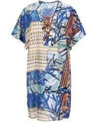 Sfizio Short Dress - Blue