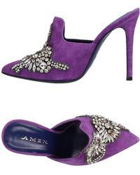 Amen Mules - Purple