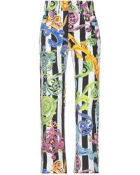 Versace Jeans Couture Denim Trousers - White