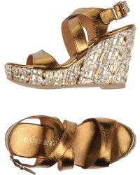 CafeNoir Sandals - Metallic