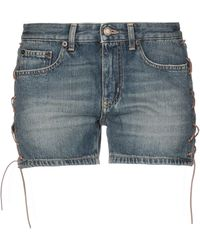 Saint Laurent Short en jean - Bleu
