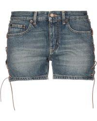 Saint Laurent Shorts jeans - Blu
