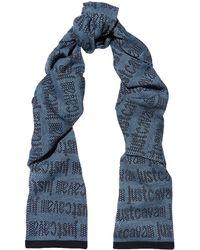 Just Cavalli - Intarsia Wool-blend Scarf - Lyst