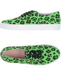 Boutique Moschino - Animalier Cotton Canvas Trainers - Lyst