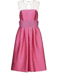 P.A.R.O.S.H. Knielanges Kleid - Pink