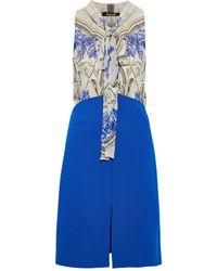 Roberto Cavalli Kurzes Kleid - Blau