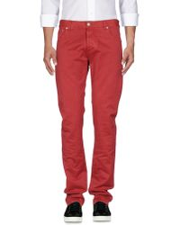 Isaia Denim Pants - Red