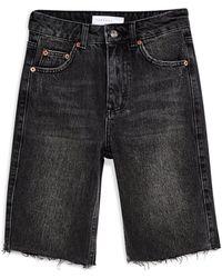 TOPSHOP Denim Shorts - Black