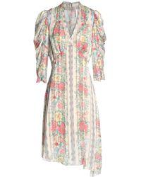 Anna Sui Knielanges Kleid - Natur
