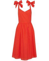 Iris & Ink Knee-length Dress - Orange