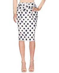 Saloni Knee Length Skirt - White
