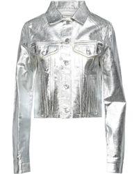 MM6 by Maison Martin Margiela Denim Outerwear - Metallic