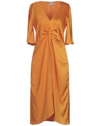 ..,merci 3/4 Length Dress - Orange