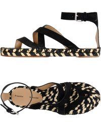 Proenza Schouler Espadrille Sandal - Black