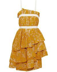 Brock Collection Minivestido - Amarillo