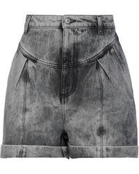 Chiara Ferragni Short en jean - Noir