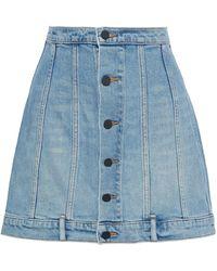 Alexander Wang Denim Skirt - Blue
