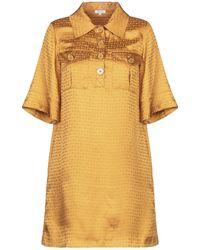 Manoush Short Dress - Yellow
