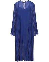 Custommade• Vestido a media pierna - Azul
