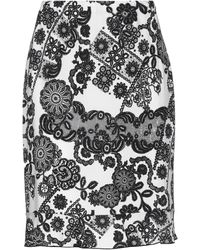 Stizzoli Knee Length Skirt - White