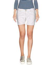 2W2M Denim Shorts - White