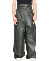 Rick Owens Denim Pants - Green