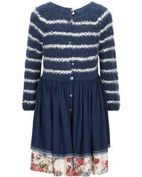 Péro Short Dress - Blue