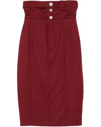 Unravel Project Midi Skirt - Red