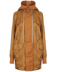 Rick Owens Drkshdw Overcoat - Brown