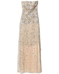 Blumarine Long Dress - Natural