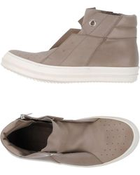Rick Owens High Sneakers & Tennisschuhe - Grau